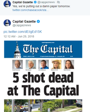 Maryland Shooting Newspaper